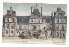 France Palais Fontainebleau L'Escalier du Fer a Cheval Vtg Neurdein Post... - $5.81