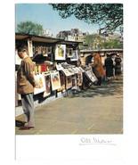 France Paris Booksellers Bouquinistes vers le Pont Neuf  Vtg Monier Post... - $5.52
