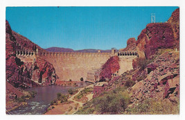 AZ Roosevelt Dam Apache Junction 1966 Postcard Black Canyon City 4 Bar C... - $5.52