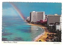 Hawaii Sheraton Waikiki Hotel Rainbow Sunrise 1974 Vtg Postcard 4X6 HI - $4.99