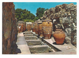 Greece Crete Knossos Palace Magazines Stores West Court Pottery Vtg Post... - $5.52
