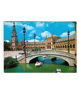 Spain Sevilla Spanish Square Plaza de Espana Vtg Postcard 4X6 Seville - $5.52
