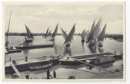 Egypt Cairo Nile River Sailing Boats Lehnert & Landrock Photo Postcard - $5.52