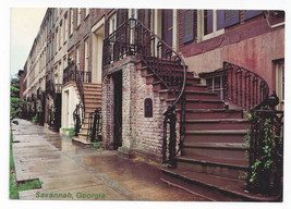 GA Savannah Gordon Row 19th C Historic Houses Vintage Jordon Postcard 4X6 - $4.99