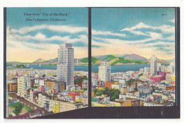 CA San Francisco View from Top of the Mark Vtg 1953 Linen Postcard - $5.52