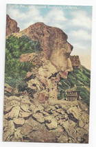 Mt Tamalpais CA Summit Profile Rock Vintage PNC Postcard - $5.52
