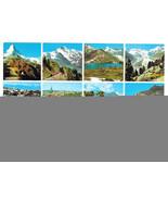 Switzerland Multiview Alps Luzern Zurich Bern Vtg Postcard 4X6 - $4.84