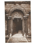 UK Ely Cathedral Prior's Door Cambridgeshire Vtg Valentines RPPC Postcar... - $5.52
