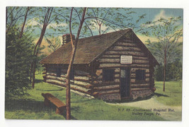 PA Valley Forge Continental Hospital Hut Vtg Curteich Linen Postcard - $5.52