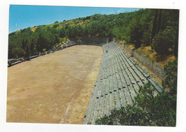 Greece Delphi Stadium Ancient Ruins Vtg Postcard 4X6 - $5.99