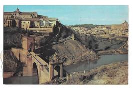 Spain Toledo Piente de Alcantara Bridge Birds eye view Vtg Postcard - $5.52