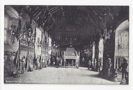 Scotland Edinburgh Castle Banqueting Hall Vtg Inglis Postcard - $6.69