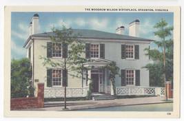 Staunton VA Woodrow Wilson Birthplace 1950 Marken & Bielfeld Linen Postcard - $5.52