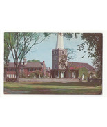 DE New Castle Delaware Old Academy and Immanuel Church Vintage 1950s Pos... - $4.99