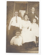 RPPC Family Mother and Children ca 1910 Real Photo Postcard - $5.52