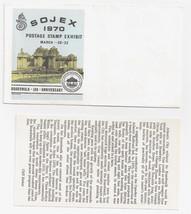 SOJEX 1970 Stamp Exhibition Cover Cachet Atlantic City Boardwalk w Enclo... - $4.99
