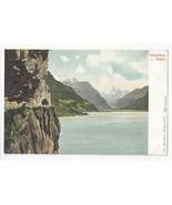 Switzerland Axenstrasse u Fluelen Vtg UDB Autochrom Postcard c 1905 - $5.52