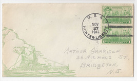 Naval Cover USS Hunter Liggett AP-27 Attack Transport 1941 - $4.84