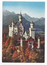 Germany Schloss Neuschwanstein Royal Castle J. Hartl Vintage Postcard 4X6 - $6.49