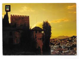 Spain Granada Alhambra Twilight Sunset Atardecer Vtg Postcard 4X6 - $6.49