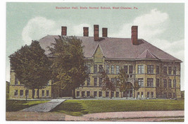 West Chester PA Recitation Hall State Normal Schoo Biehn Repro Postcard ... - $4.84