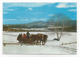 VT Stowe Sleigh Riding Trapp Family Lodge Vintage Alois Mayer 1978 Postc... - $6.49