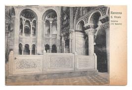 Italy Ravenna Basilica S Vitale Church Interior Byzantine Vtg Postcard - $4.99