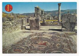 Morocco Maroc Volubilis Roman Mosaics Ruins Vtg Postcard 4X6 - $4.84