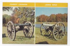 Battle of Gettysburg Civil War Guns Parrot Cannon James Rifle Vintage Postcard - $5.52