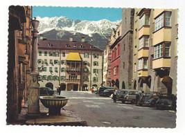 Austria Innsbruck Herzog Friedrich Strass Gold Roof Vtg Postcard 4X6 - $5.50