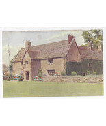 UK England Sulgrave Manor View from Lawn George Washington Vtg Postcard - $5.52