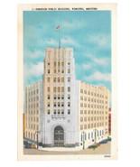 Canada Winnipeg Manitoba Dominion Public Building Vintage Linen Postcard - $5.90