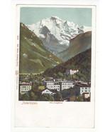 Switzerland Interlaken Jungfrau Vtg UDB Autochrom Postcard c 1905 - $4.84