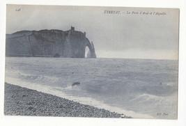 France Etretat Porte d'Aval et l' Aigulle Vtg ca 1910 ND Postcard - $5.52