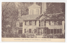 MA Concord Wayside Home of Nathaniel Hawthorne Author Vintage Postcard - $4.99
