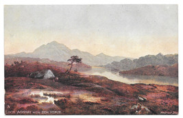 Tuck Oilette Loch Achray Ben Venue Andrew Blair Vtg Postcard Scottish Lo... - $6.69