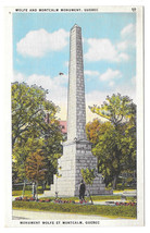 Canada Quebec Wolfe and Montcalm Monument Vtg Postcard - $5.52