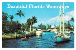 Florida Beautiful Waterways Boats Vtg 1973 Postcard - $5.52