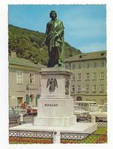 Austria Salzburg Memorial Statue Mozart Vtg Postcard 4X6 - $4.99