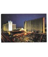 Las Vegas NV MGM Grand Hotel Night View Vtg Postcard - $5.52