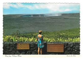 HI Halemaumau Crater Volcanoes National Park Vtg Hawaii Postcard 4X6 - $4.75