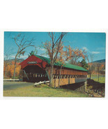 NH Jackson Covered Bridge Ellis River White Mountains Vtg Postcard - $5.52