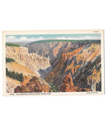 WY Yellowstone Canyon from Grand View Vtg Haynes Linen Postcard Wyoming - $4.99