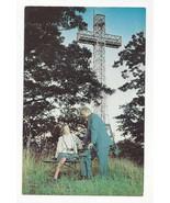 Canada Montreal Mount Royal Cross Vtg Quebec Postcard La Croix du Mont R... - $6.99