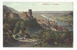 Germany Heidelberg from the Terrasse Vintage Postcard c 1910 - $4.99