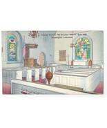 Wilmington DE Old Swedes Church Interior Vintage Postcard - $6.69