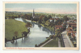 UK Stratford on Avon from the Memorial Vtg Autochrom Postcard ca 1910 - $6.49