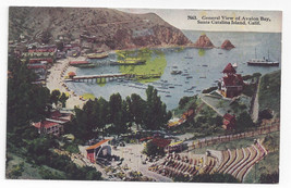 CA Santa Catalina Island Avalon Bay General View Vintage Tammen Postcard - $6.49