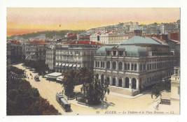 Africa Algeria Alger Le Theatre et la Place Bresson Vtg Lucien Levy Post... - $5.52
