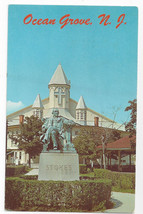 Ocean Grove NJ Auditorium and Stokes Monument Vintage Postcard - $4.84